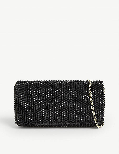 REISS: Zoey embellished clutch bag