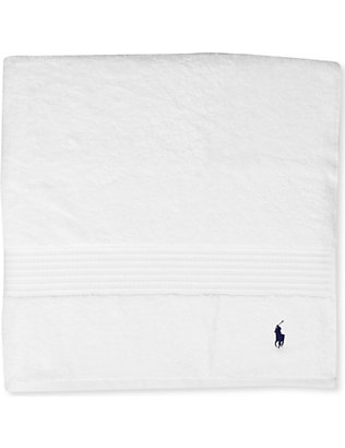 RALPH LAUREN HOME: Player hand towel white