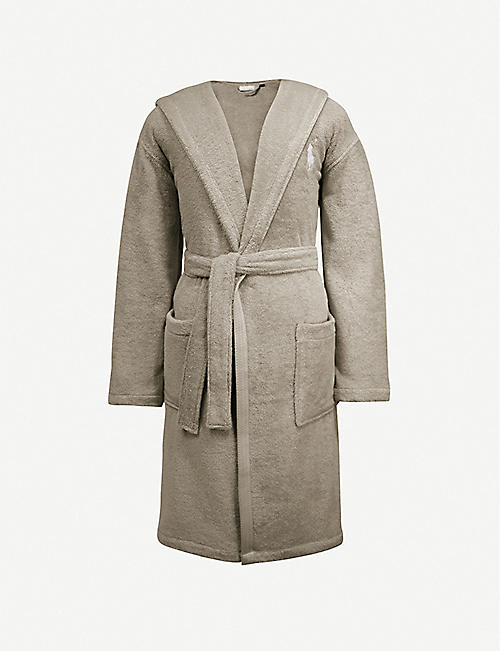 RALPH LAUREN HOME Logo-embroidered cotton dressing gown