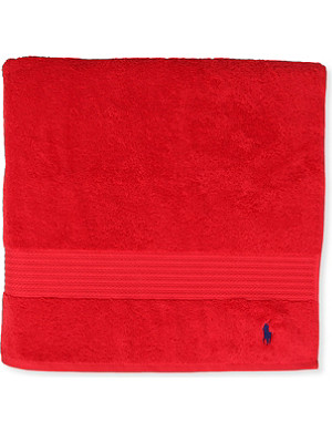 RALPH LAUREN HOME Player bath towel red