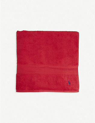 RALPH LAUREN HOME: Player logo-embroidered cotton bath sheet 90cm x 170cm