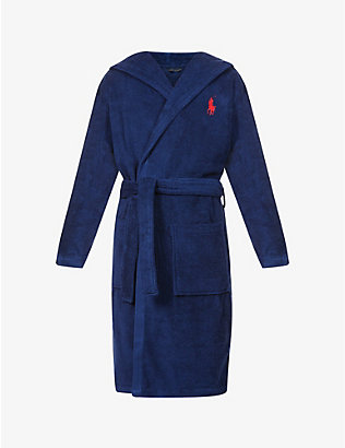 RALPH LAUREN HOME: Logo-embroidered cotton dressing gown