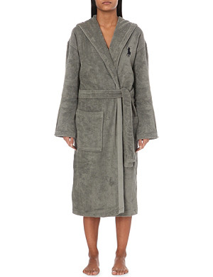 786e0f766 RALPH LAUREN HOME · Logo-embroidered cotton dressing gown