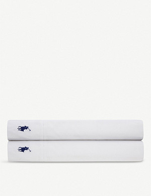 RALPH LAUREN HOME Player flat fitted sheet