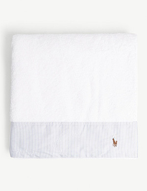 RALPH LAUREN HOME Oxford striped cotton bath towel 70x140cm
