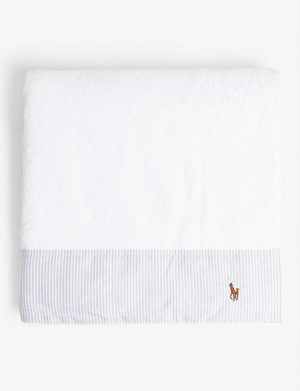 RALPH LAUREN HOME: Oxford striped cotton bath towel 70x140cm