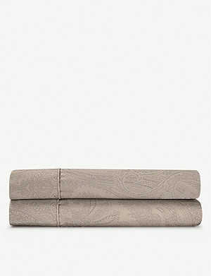 RALPH LAUREN HOME Doncaster cotton flat sheet range