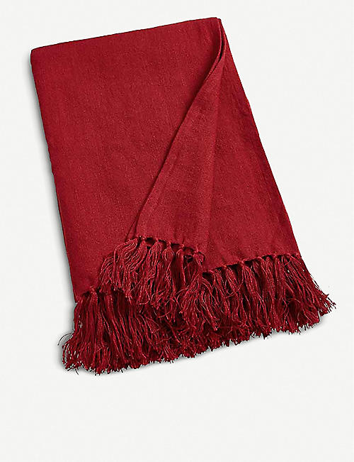 RALPH LAUREN HOME Norwich Road Everly linen throw