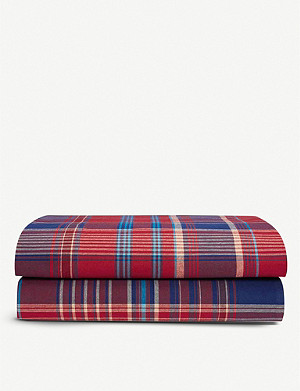 RALPH LAUREN HOME Norwich Road Marrick cotton flat sheet range