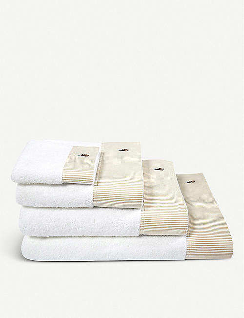 RALPH LAUREN HOME Oxford striped cotton bath linen range