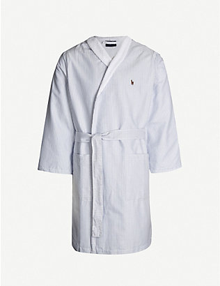 RALPH LAUREN HOME: Oxford cotton towelling robe
