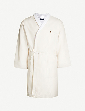 RALPH LAUREN HOME Oxford cotton towelling robe
