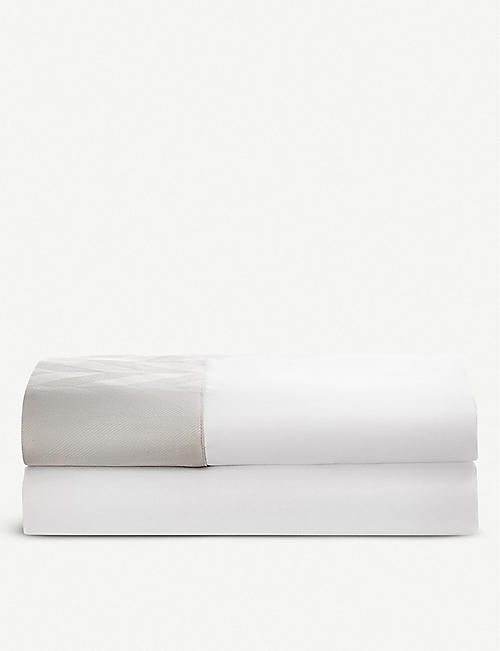 RALPH LAUREN HOME Radnor jacquard cotton-sateen flat sheet