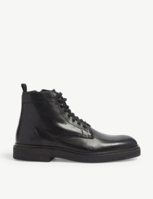 THE KOOPLES Buffalo leather ankle boots