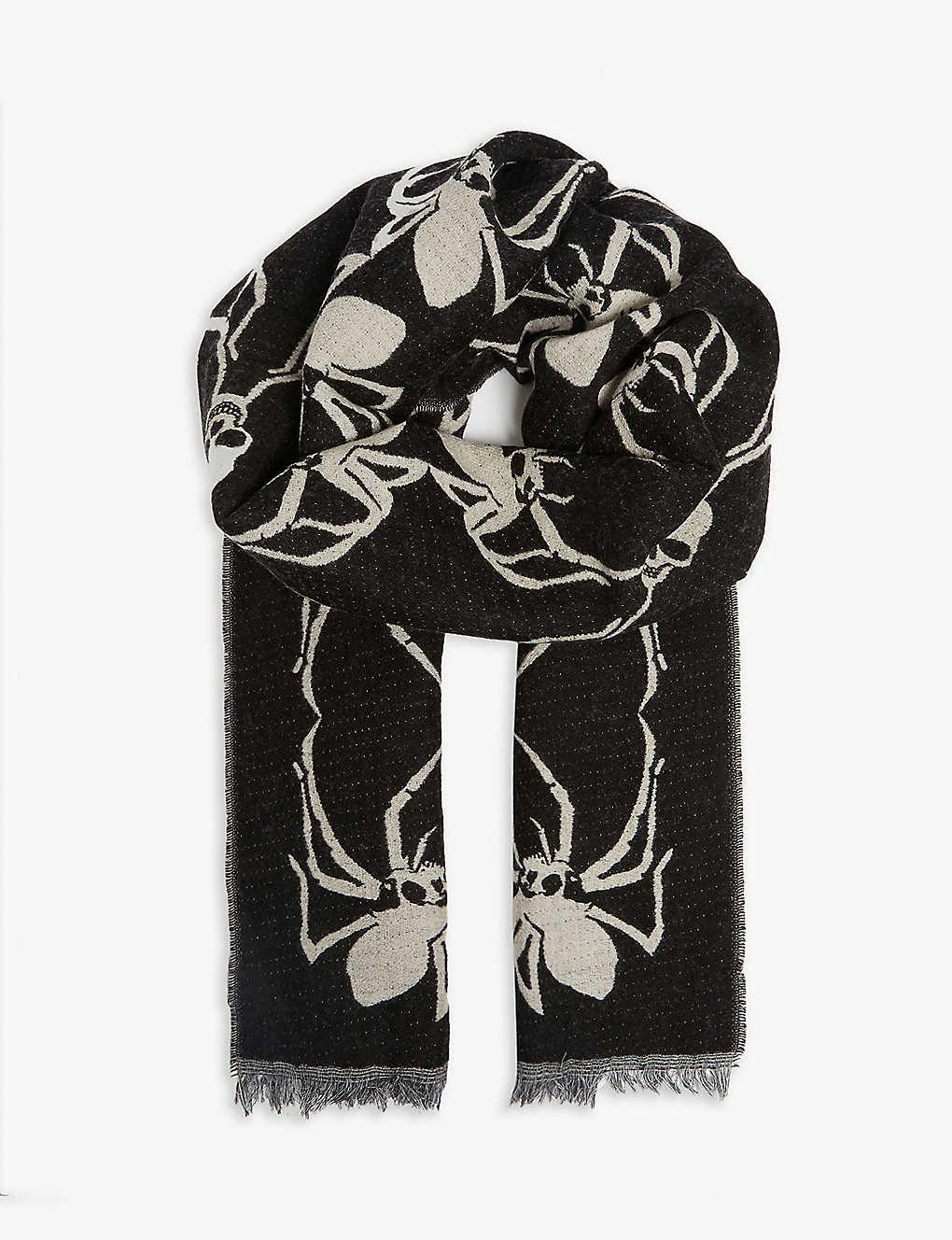 ac20482bee THE KOOPLES - Spider and skull print scarf | Selfridges.com