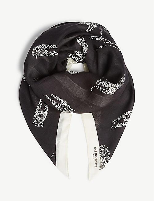 cf7c04ce9da THE KOOPLES Panther print modal-blend scarf
