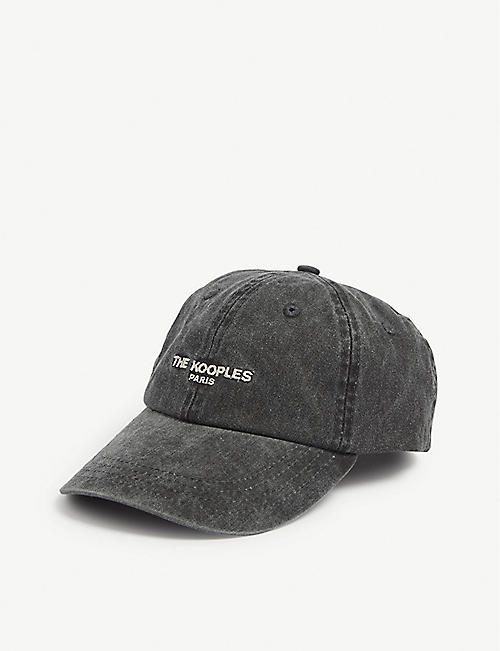 THE KOOPLES Logo washed cotton baseball cap