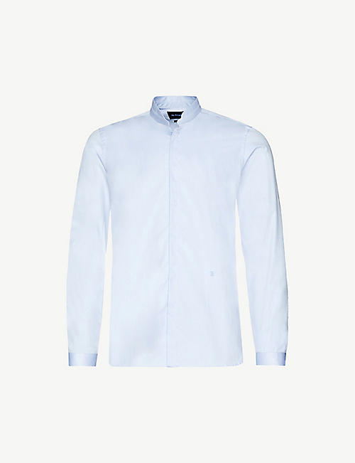 THE KOOPLES: Logo-embroidered cotton-twill shirt