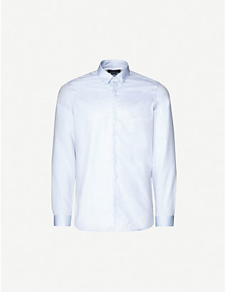 THE KOOPLES: Button-down slim-fit cotton-twill shirt