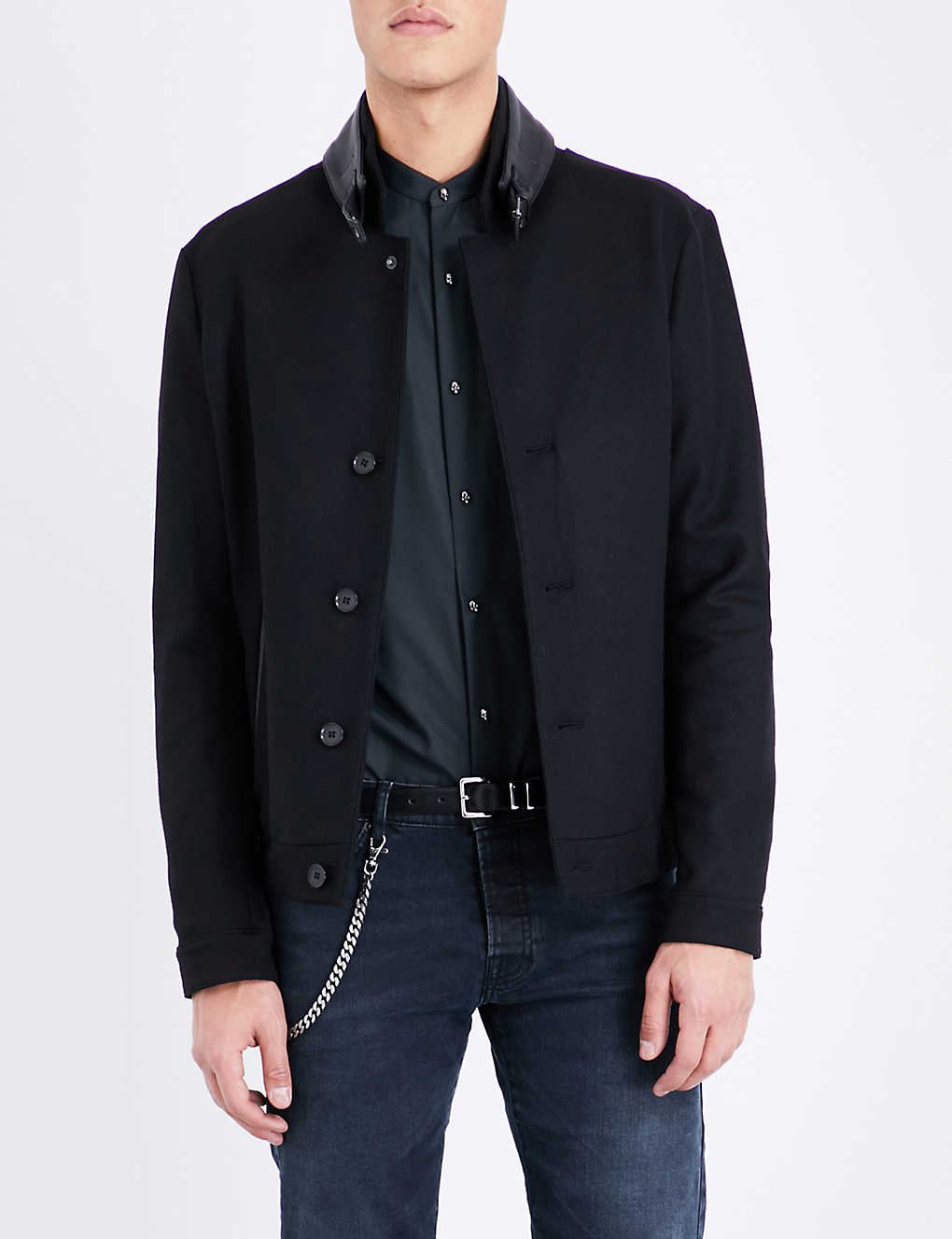 f3bc3d07eef THE KOOPLES - Buckle-detail wool-blend jacket | Selfridges.com