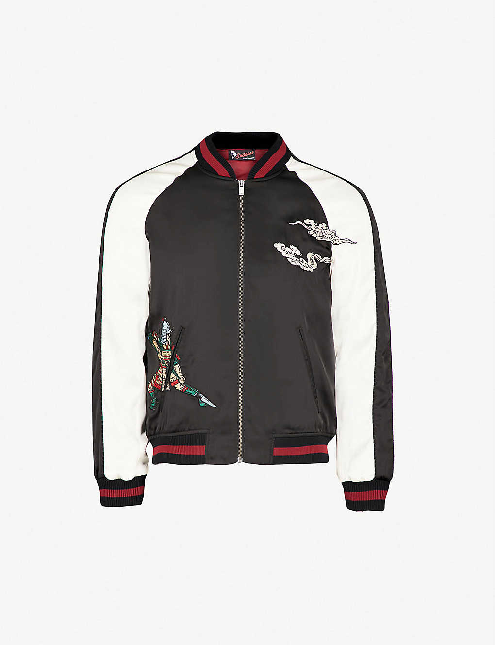 3cd40cec4 THE KOOPLES - Embroidered satin bomber jacket | Selfridges.com
