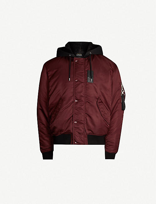 ce80650dfad3 THE KOOPLES Hooded shell bomber jacket