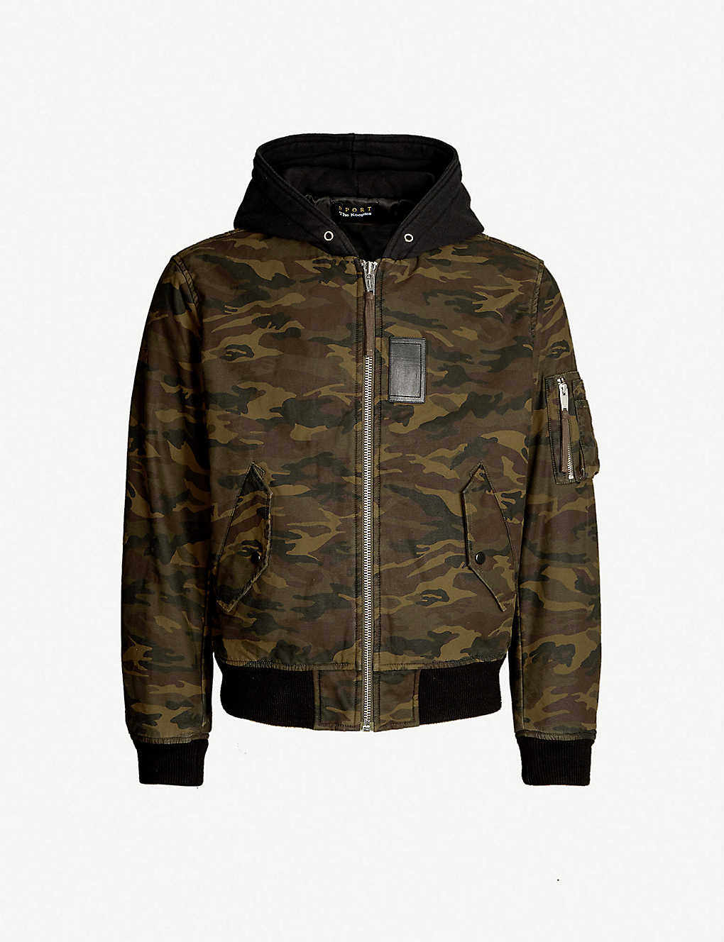 96abb0fc789 THE KOOPLES - Camouflage print hooded cotton bomber jacket ...