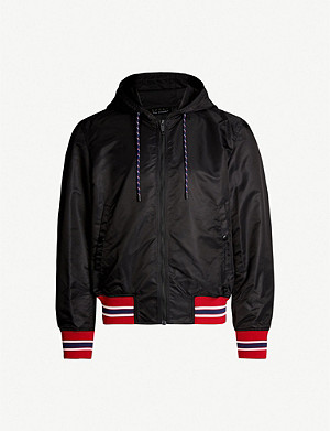 THE KOOPLES Striped-trim shell bomber jacket