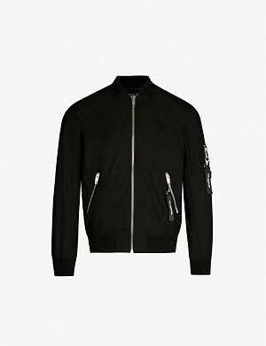 THE KOOPLES Oversized tag cotton bomber jacket
