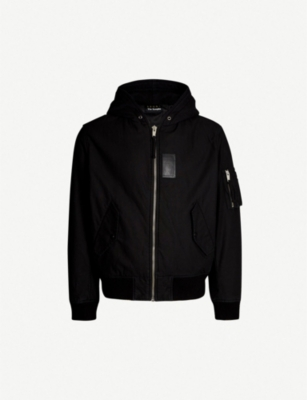 THE KOOPLES Hooded cotton bomber jacket