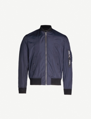 THE KOOPLES Oversized zip-pull shell bomber jacket