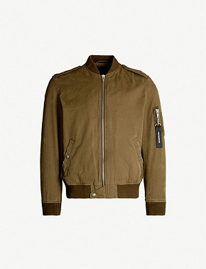 THE KOOPLES Distressed cotton bomber jacket