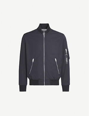 THE KOOPLES Long-sleeved stand-collar shell bomber jacket