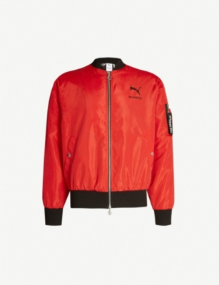 THE KOOPLES The Kooples Sport X PUMA logo-back shell bomber jacket