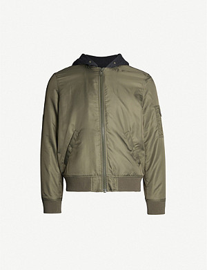 THE KOOPLES Hooded shell bomber jacket