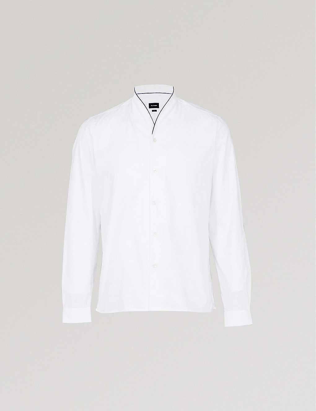 cc8325e7be THE KOOPLES - Shawl-collar fitted cotton-piqué shirt | Selfridges.com