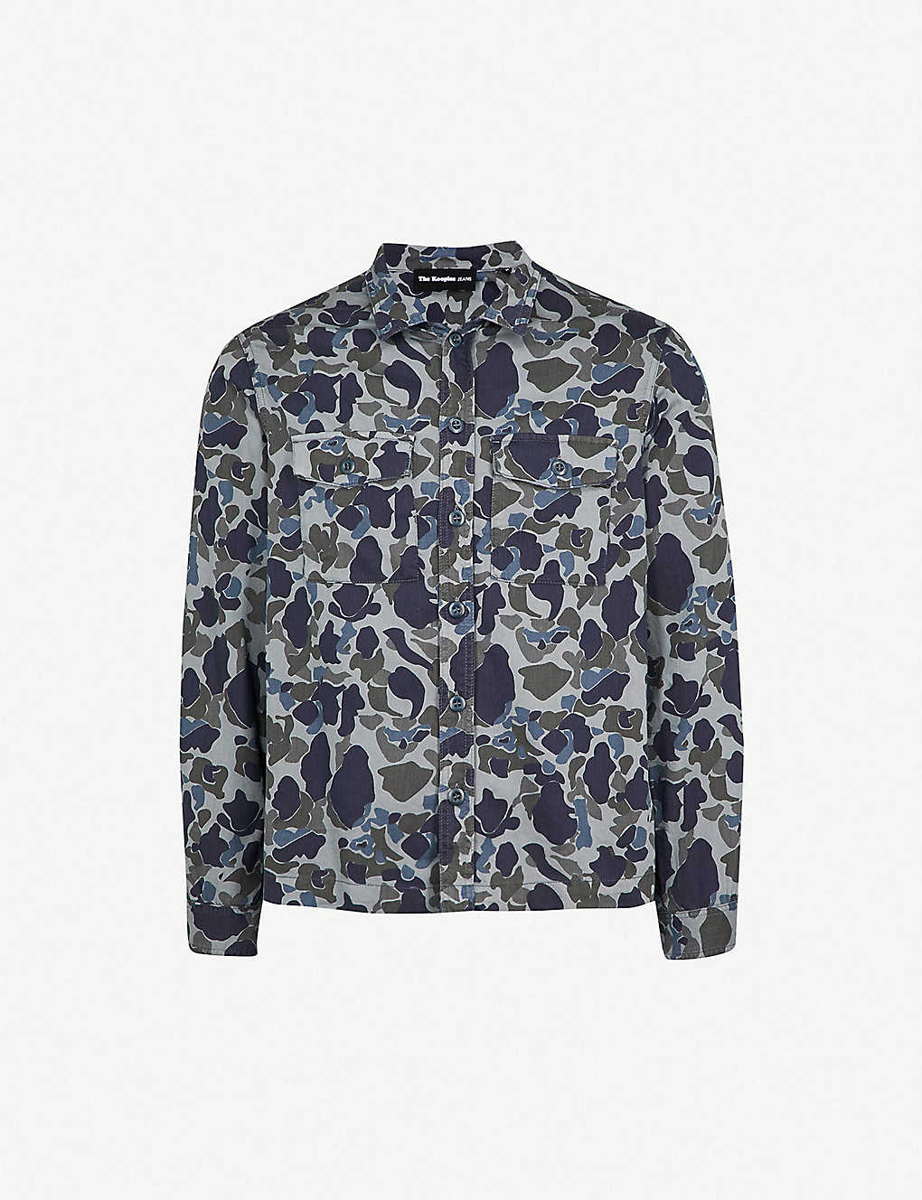 7c309be3 THE KOOPLES - Camouflage-print relaxed-fit cotton overshirt ...