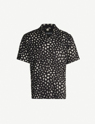 THE KOOPLES Spotted relaxed-fit poplin shirt
