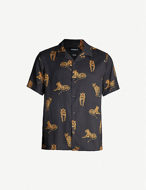 07a89cfebb THE KOOPLES Wako tiger-print relaxed-fit crepe shirt