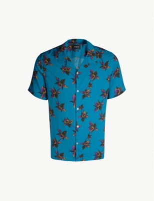 THE KOOPLES Hawaiian floral-print woven shirt