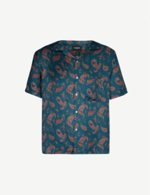 THE KOOPLES Bandana-print relaxed-fit crepe shirt