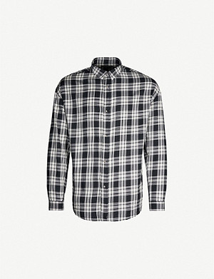 THE KOOPLES Checked oversized cotton shirt