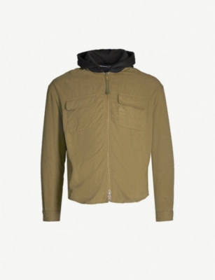 THE KOOPLES Hooded zipped jersey shirt