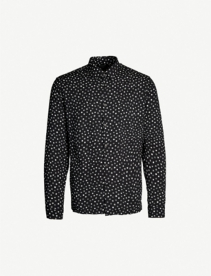 THE KOOPLES Geometric-print relaxed-fit twill shirt