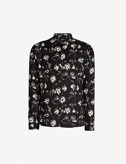 THE KOOPLES Floral-print crepe shirt