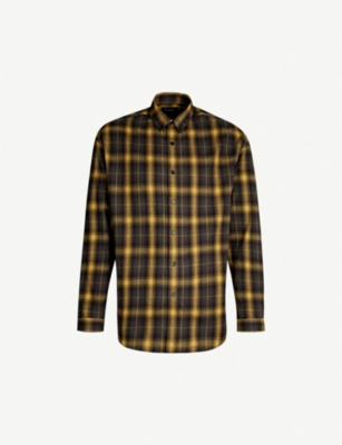 THE KOOPLES Checked relaxed-fit cotton shirt