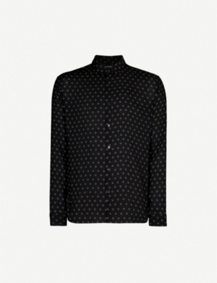 THE KOOPLES Circle-pattern relaxed-fit crepe shirt