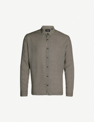 THE KOOPLES Geometric-print relaxed-fit cotton shirt