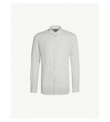 ec7db7ee907c THE KOOPLES - Spot patterned slim-fit poplin shirt | Selfridges.com