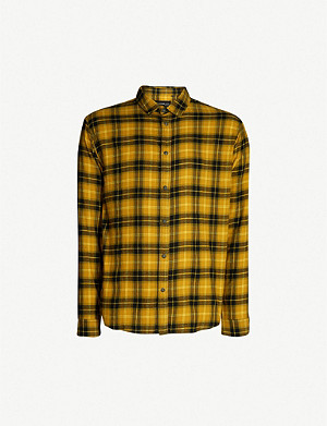 THE KOOPLES Checked relaxed-fit cotton-flannel shirt